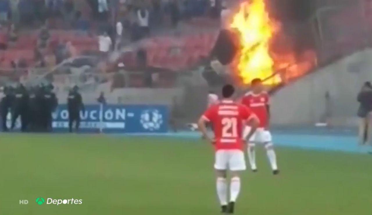 Batalla campal en Chile, brutal pelea en el Estadio Nacional