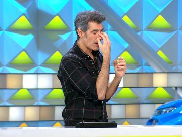 Jorge Fernández, sorprendido con el nuevo invento descubierto en 'La ruleta de la suerte'