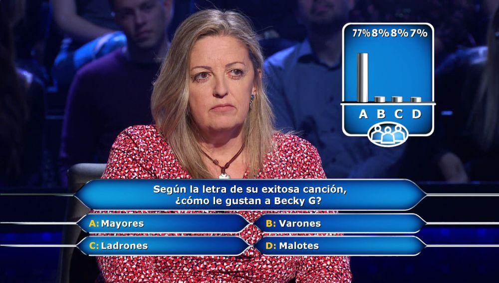 """¿A Becky G le gustan """"malotes""""? El público salva a Marta en '¿Quién quiere ser millonario?'"""