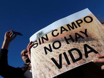 Protesta agricultores en Madrid