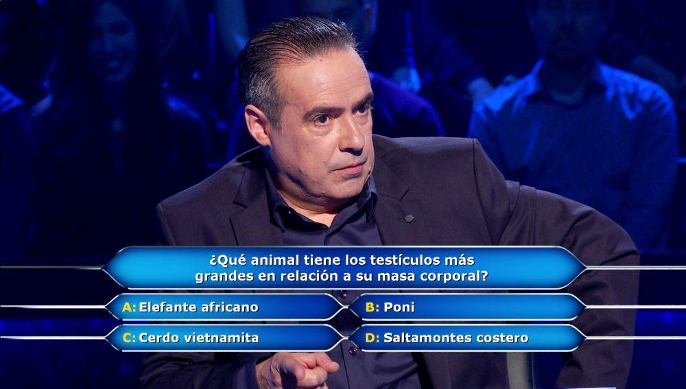 Enrique Chicote comprueba que el tamaño importa para conseguir los 5.000 euros de '¿Quién quiere ser millonario?'