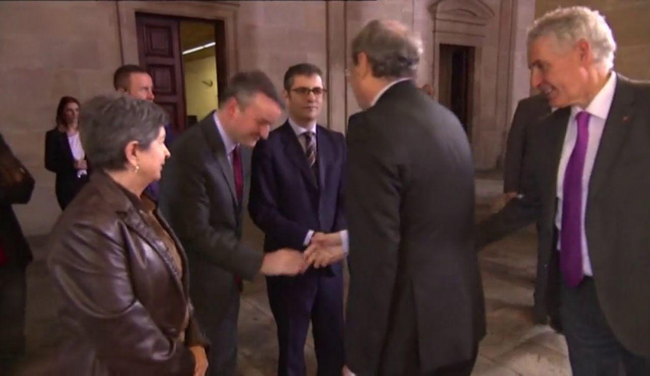 El vídeo viral del saludo de Iván Redondo a Joaquim Torra