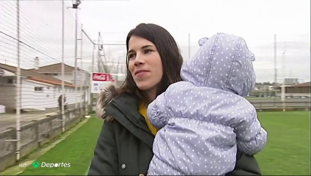 """Maider Irisarri, madre y jugadora de Osasuna: """"Tuve una acogida muy positiva... fue emoción y alegría"""""""