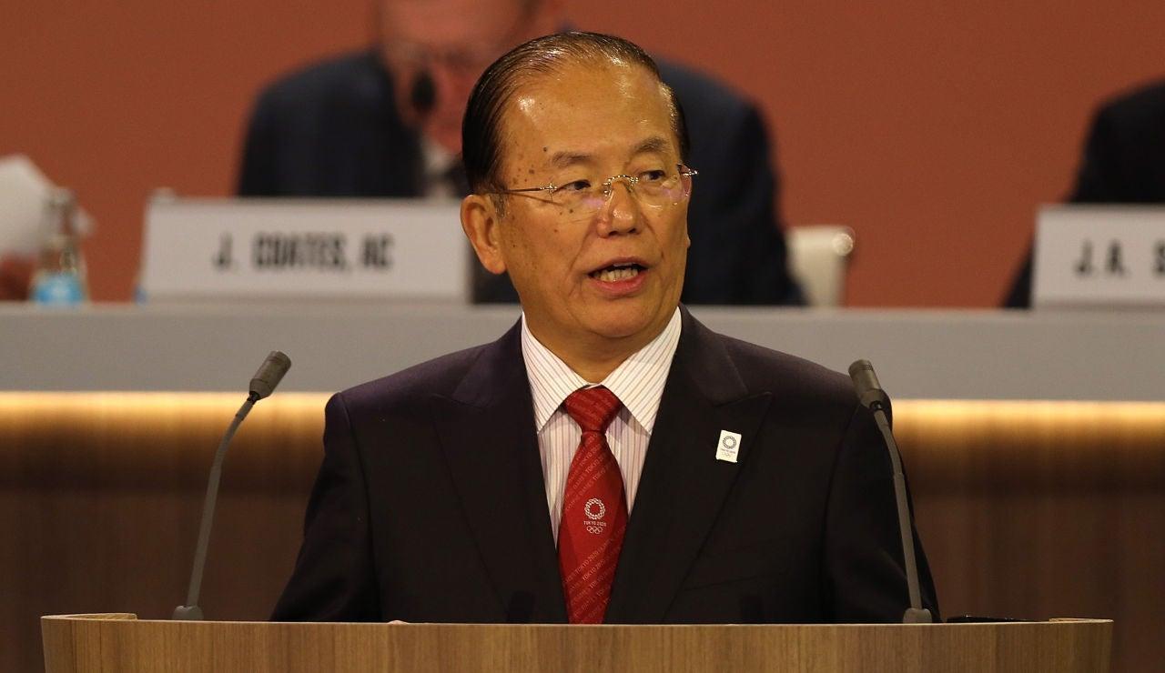 El presidente del comité organizador de Tokio 2020, Toshiro Muto