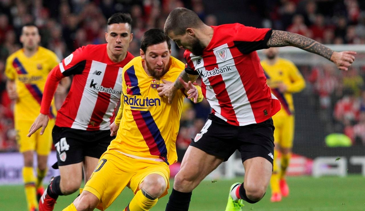 Leo Messi, contra el Athletic
