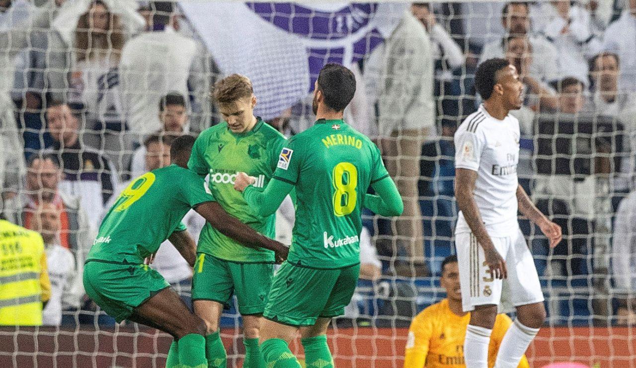 Odegaard no celebró su gol