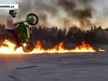 Denuncian carreras ilegales de motos en Jerez todos los fines de semana