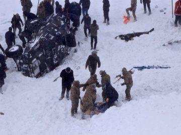 Avalancha de nieve en Turquía