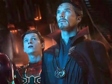 SpiderMan y Doctor Strange en 'Vengadores: Endgame'
