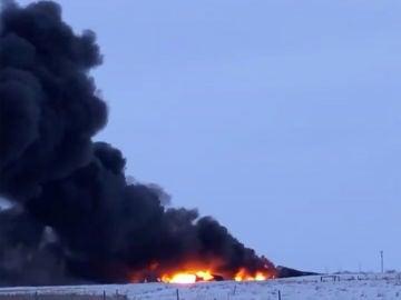 Un tren descarrila en Canadá