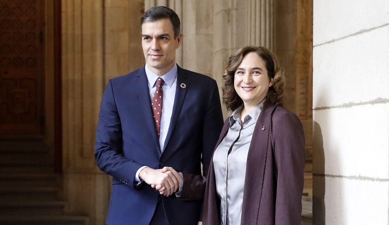 Ada Colau y Pedro Sánchez