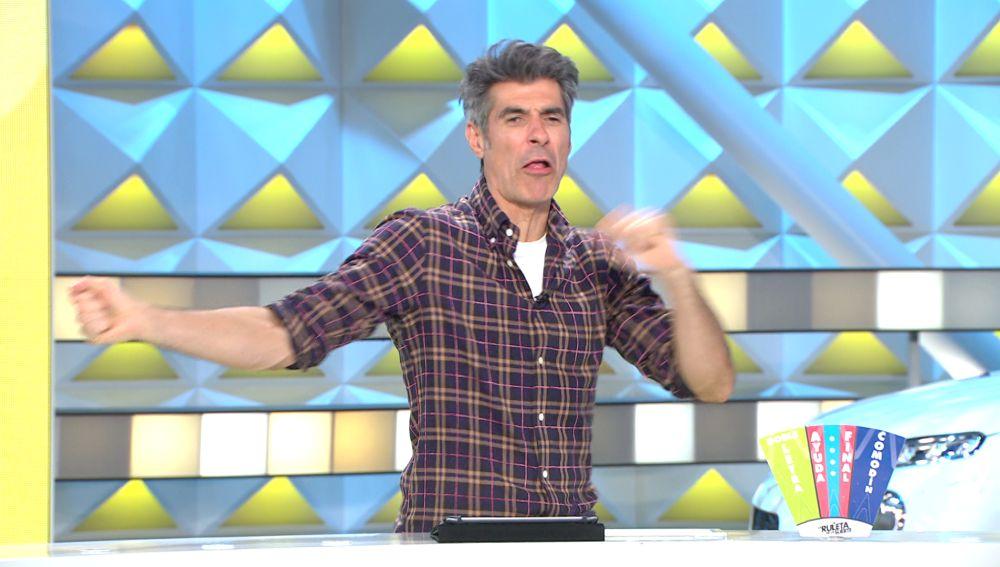 El enfado de Jorge Fernández con un concursante de 'La ruleta de la suerte' por no lanzar bien la ruleta