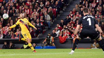 Jordi Alba, durante el partido contra el Athletic
