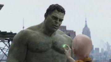 Tilda Swinton y Mark Ruffalo como Hulk y El Anciano en 'Vengadores: Edgame'