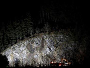 Derrumbe de una ladera en la AP-8