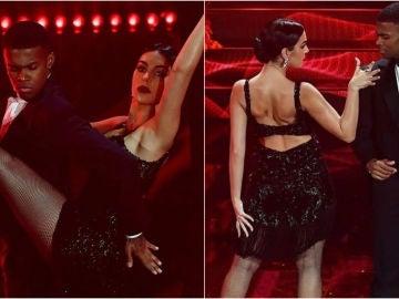 Georgina Rodriguez bailando un tango en el Festival de San Remo