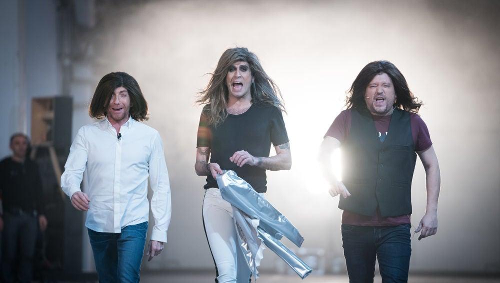 Pablo Motos, El Monaguillo y Mario Vaquerizo se convierten en los Bee Gees