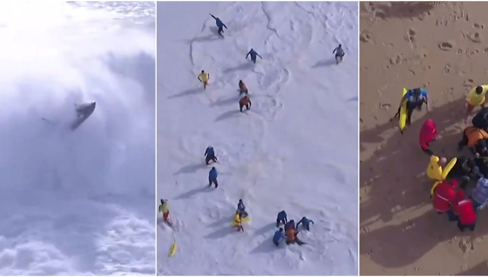 El terrible accidente de Alex Botelho en Nazaré