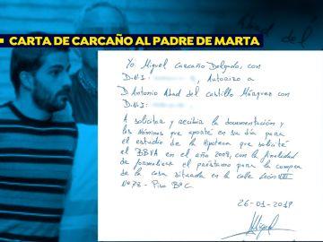 La carta de Miguel Carcaño al padre de Marta del Castillo