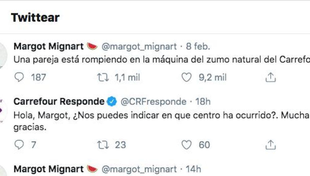 Captura de pantalla de @margot_mignart