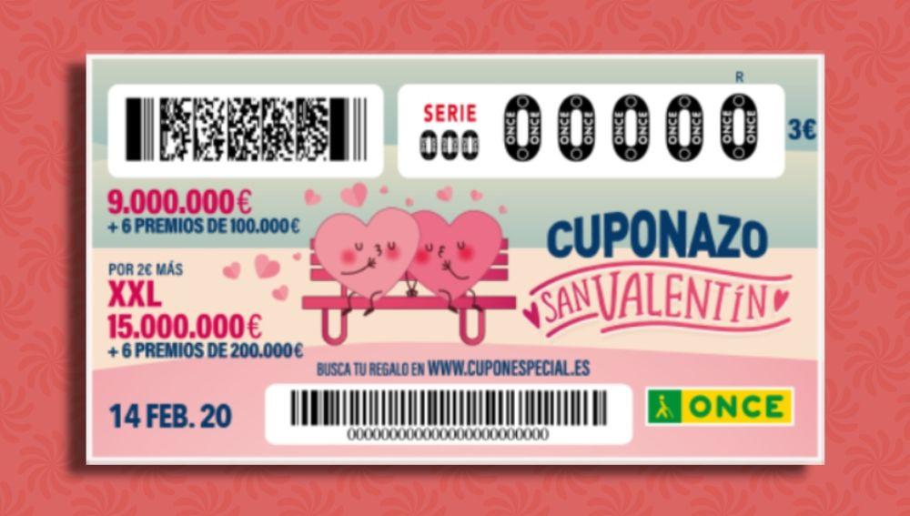 Cuponazo San Valentín 2020: Premios del sorteo del Cuponazo de San Valentín de la ONCE 2020