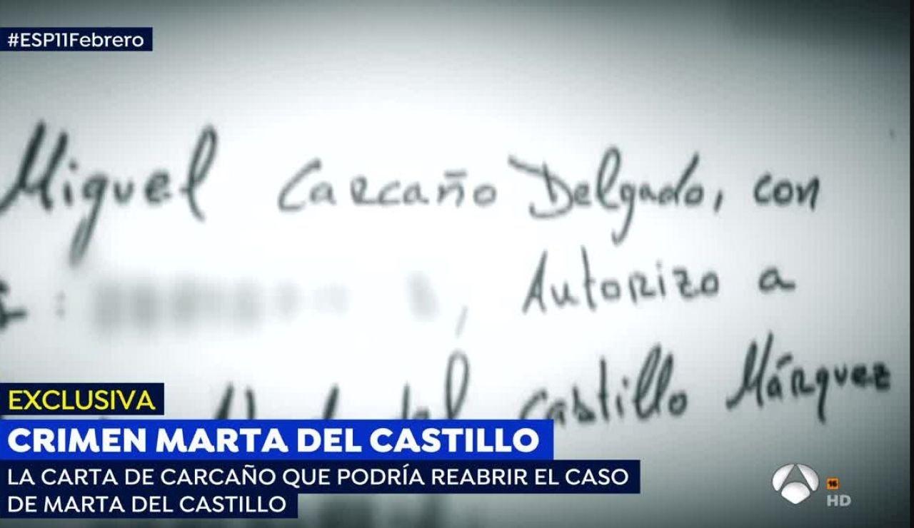 La carta enviada por Miguel Carcaño al padre de Marta del Castillo