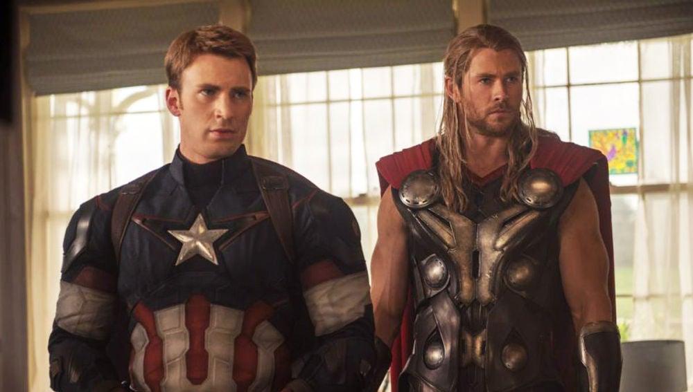 Capitán América y Thor (Chris Evans y Chris Hemsworth)
