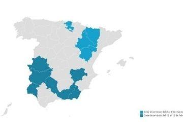 Mapa Apagón TDT