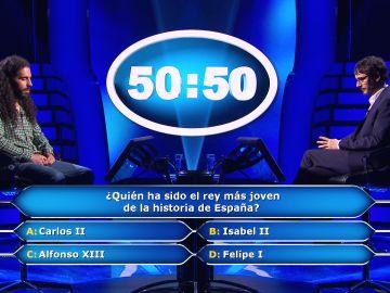 """Los reyes hacen dudar a Héctor en '¿Quién quiere ser millonario?': """"¡Qué miedo dan las cosas a estas alturas!"""""""