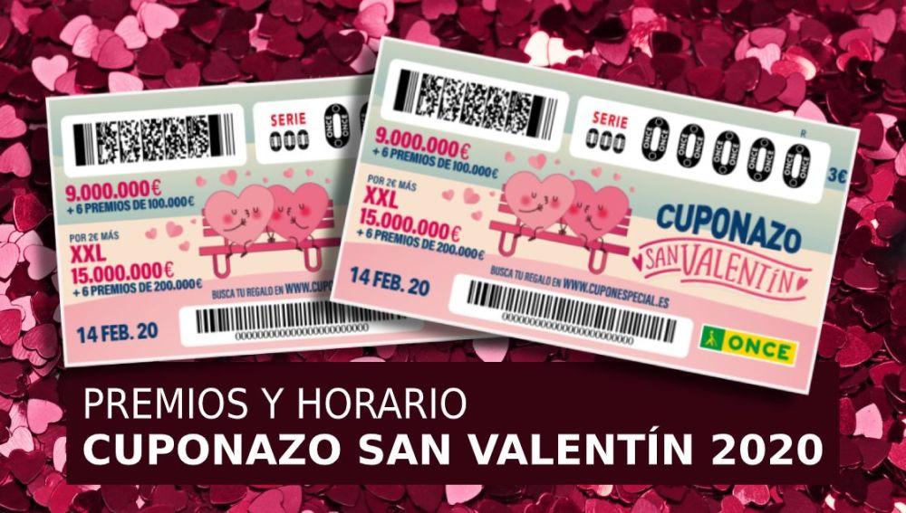 Cuponazo San Valentín 2020: Horario y premios del Sorteo extraordinario de San Valentín de la ONCE hoy