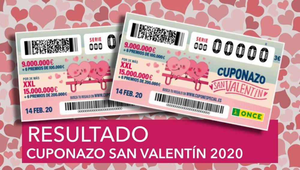 Cuponazo de San Valentín 2020: Resultado y comprobar número del sorteo del Cuponazo de San Valentín de la ONCE
