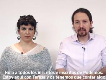 Teresa Rodríguez pacta con Pablo Iglesias su salida de Podemos