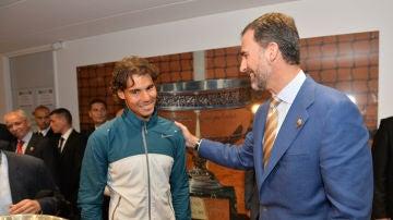Felipe VI y Rafa Nadal en 2013