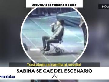 Joaquín Sabina sale en silla de ruedas a pedir perdón tras el accidente en su último concierto