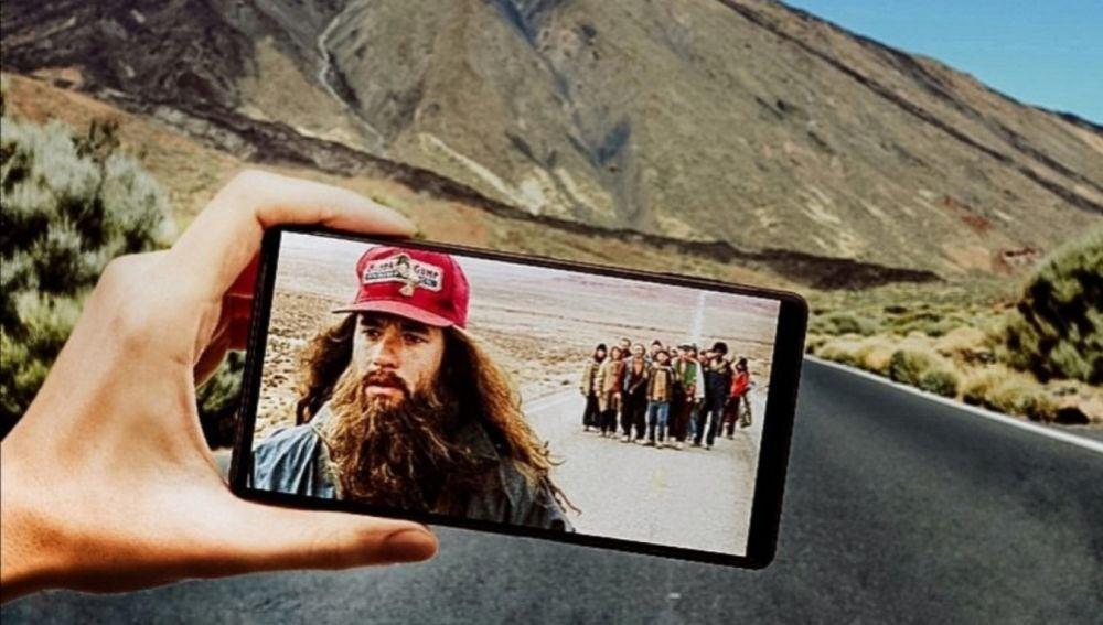 Un fotografo coloca por los rincones de Tenerife las escenas más famosas de la historia del cine