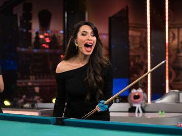 Pilar Rubio vuelve a sorprender con un reto de billar imposible en 'El Hormiguero 3.0'