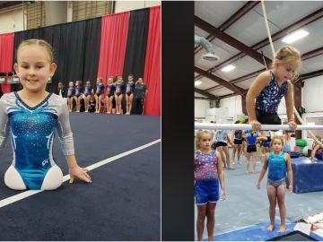 Paige Calendine, la gimnasta sin piernas de Zanesville Gymnastics
