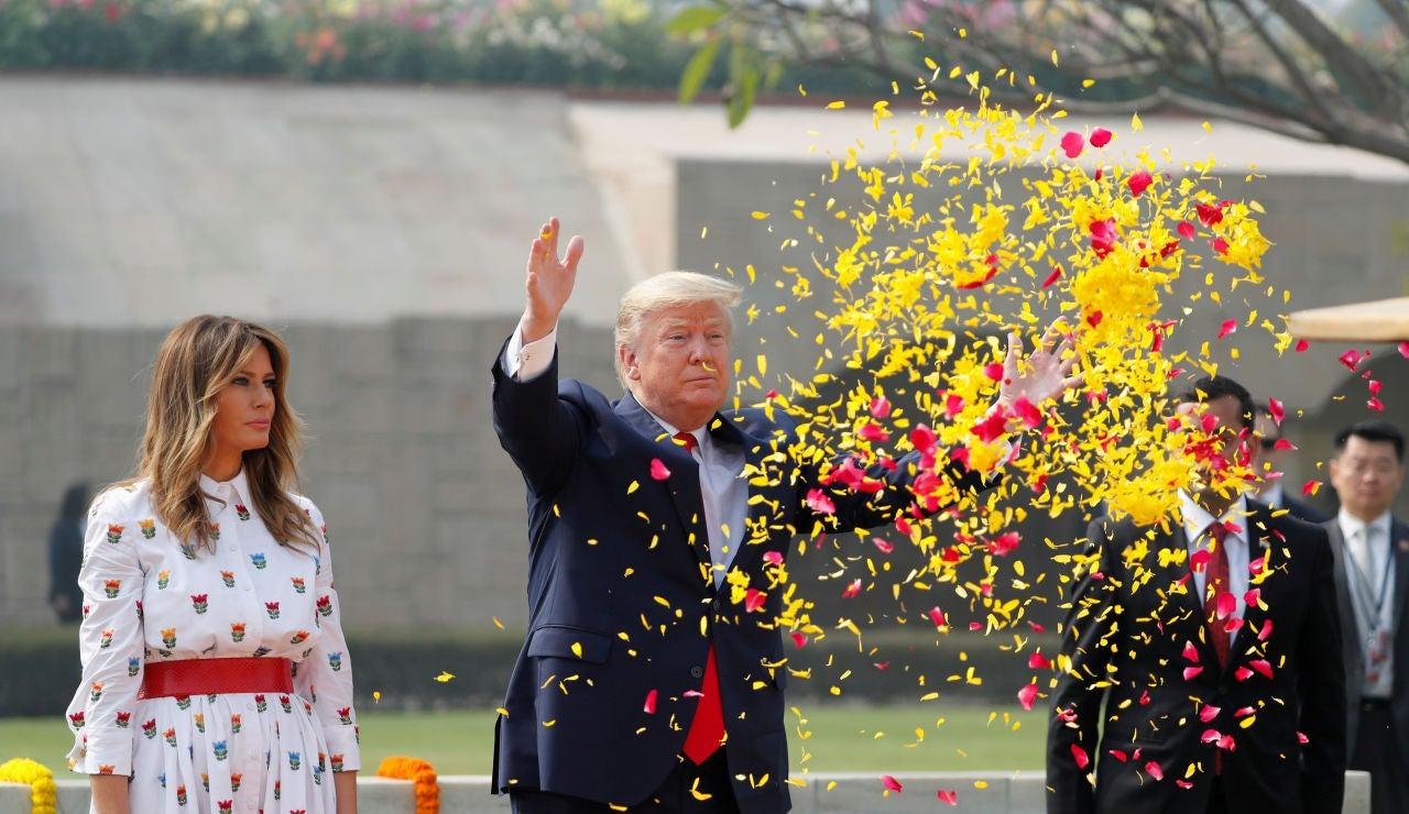 Donald Trunp y Melania Trump en India
