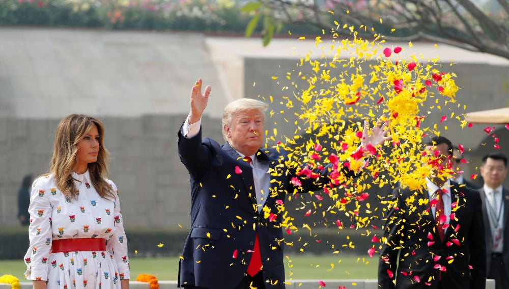 Donald Trunp y Melania Trump en India