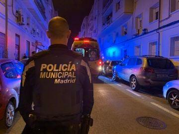 Policía municipal y Samur de Madrid