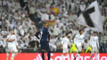 Mbappé en el Santiago Bernabéu
