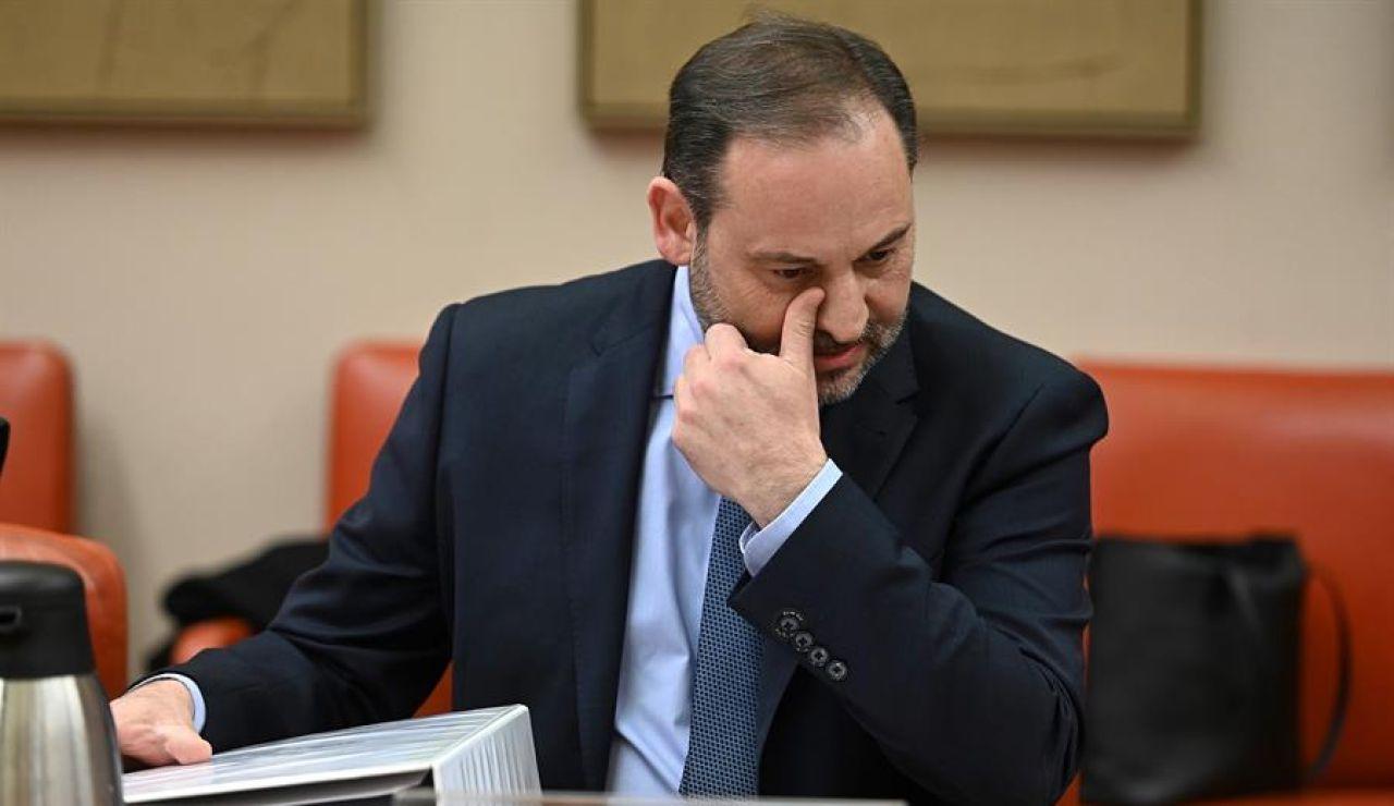 José Luis Ábalos, en una comisión del Congreso