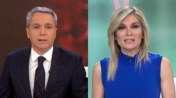 Vicente Vallés y Sandra Golpe