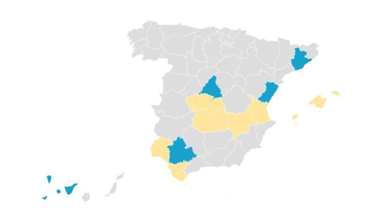 Diez casos de coronavirus en España