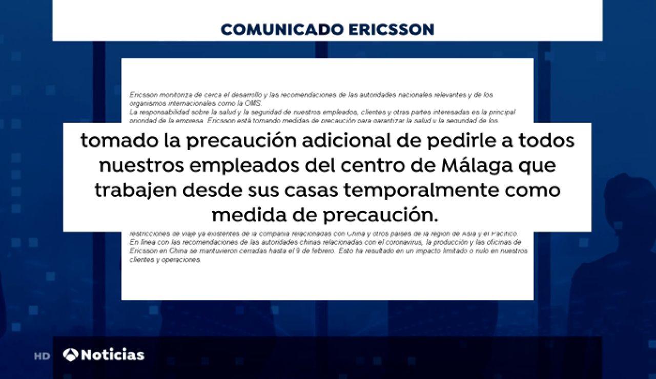 Ericsson envía a 200 empleados a casa por precaución ante el coronavirus