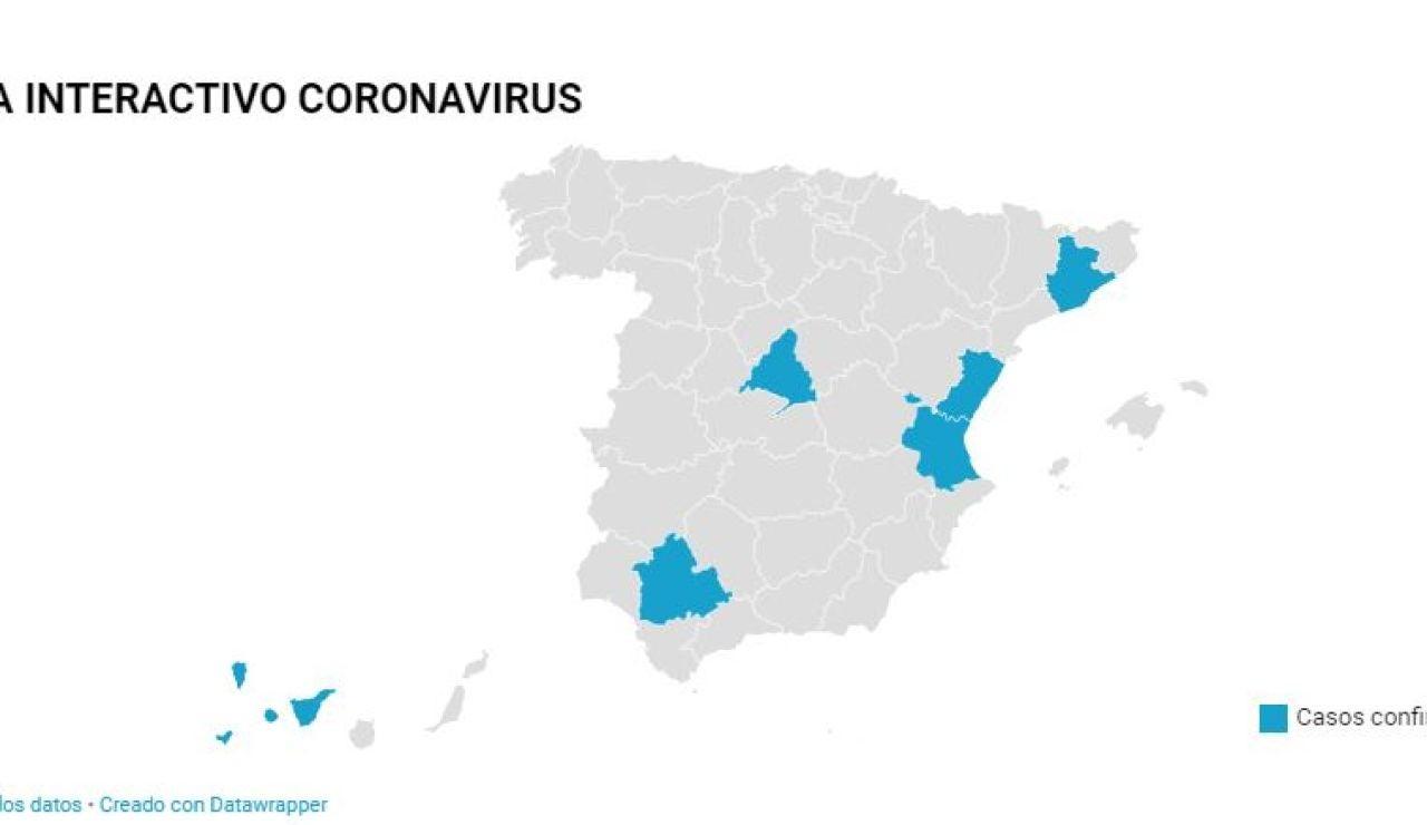 Doce casos de coronavirus en España