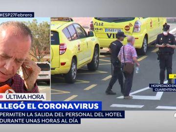 """Un huésped del hotel en cuarentena en Tenerife: """"Nadie ha venido a desinfectar, llamas a recepción y nadie coge el teléfono"""""""