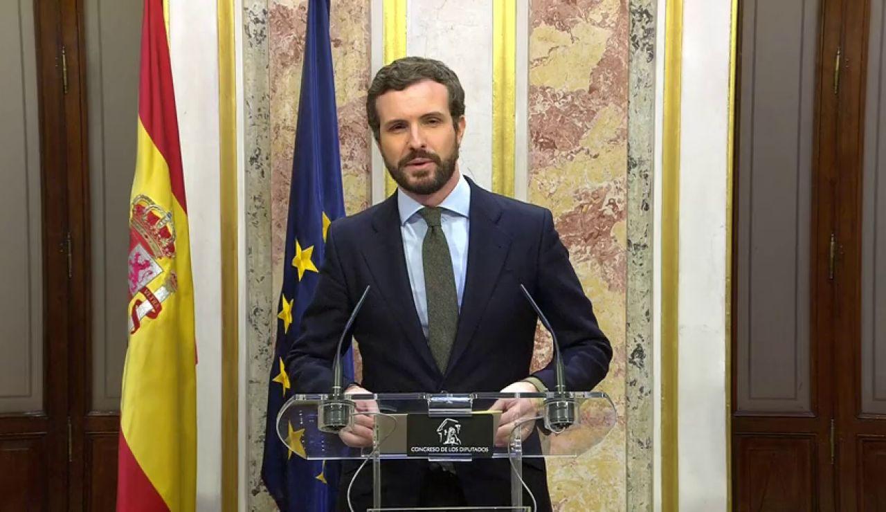 """Pablo Casado: """"Nunca unos presupuestos costaron tanto a una democracia"""""""