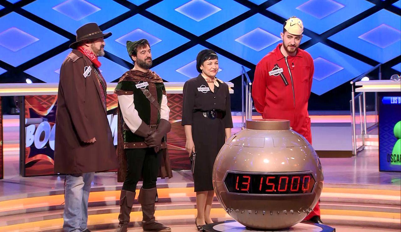 'Los dispersos' cumplen 100 programas en '¡Boom!' y se convierten por un día en 'Los foragidos'