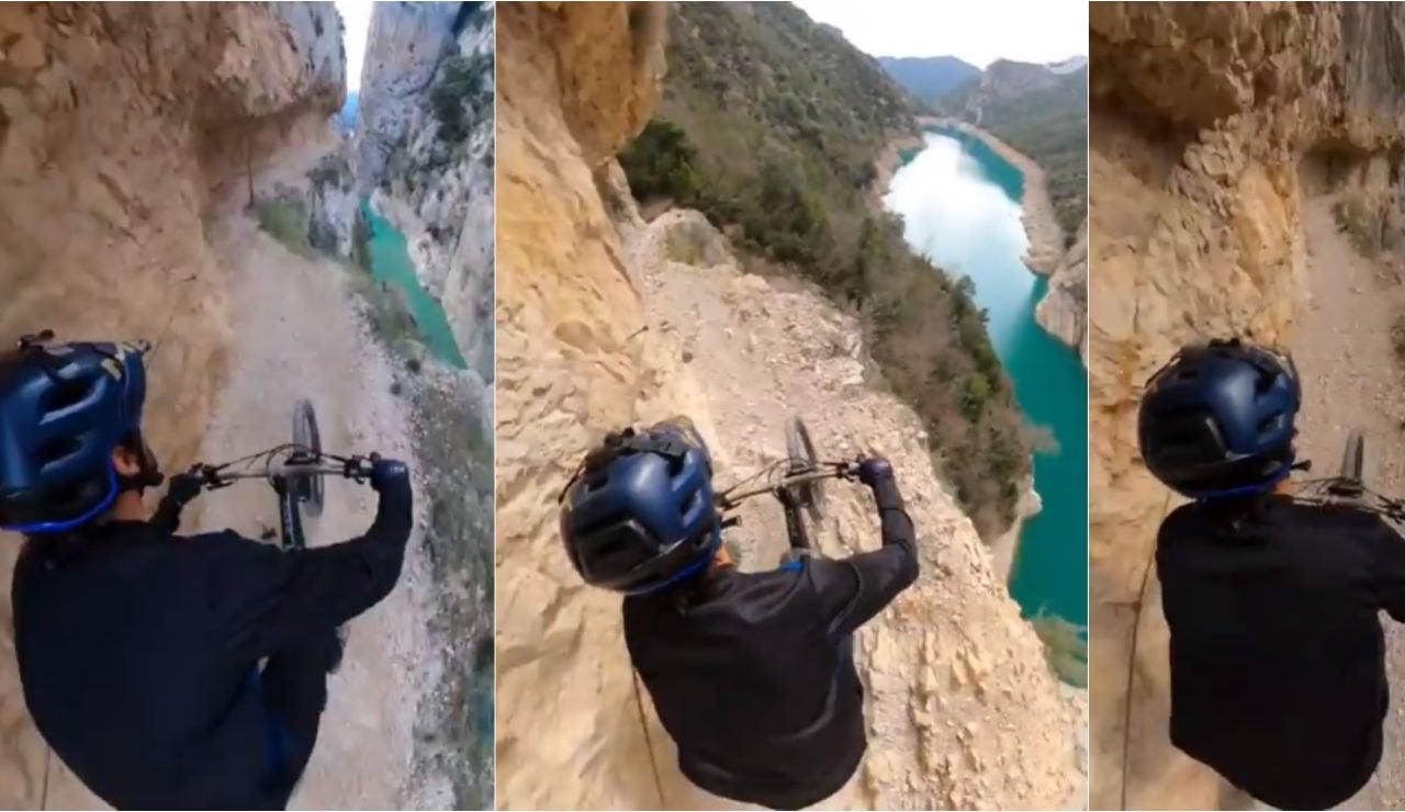 Kilian Bron y su vertiginoso descenso con su MTB